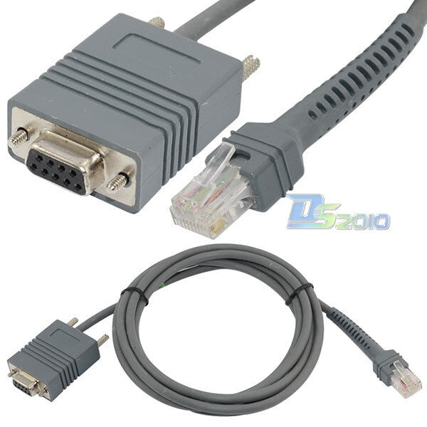 Usb Serial Rj45 Wiring Diagram: 7Ft Symbol RS232 LS2208 RJ45 To DB9 Female Cord Bar Code