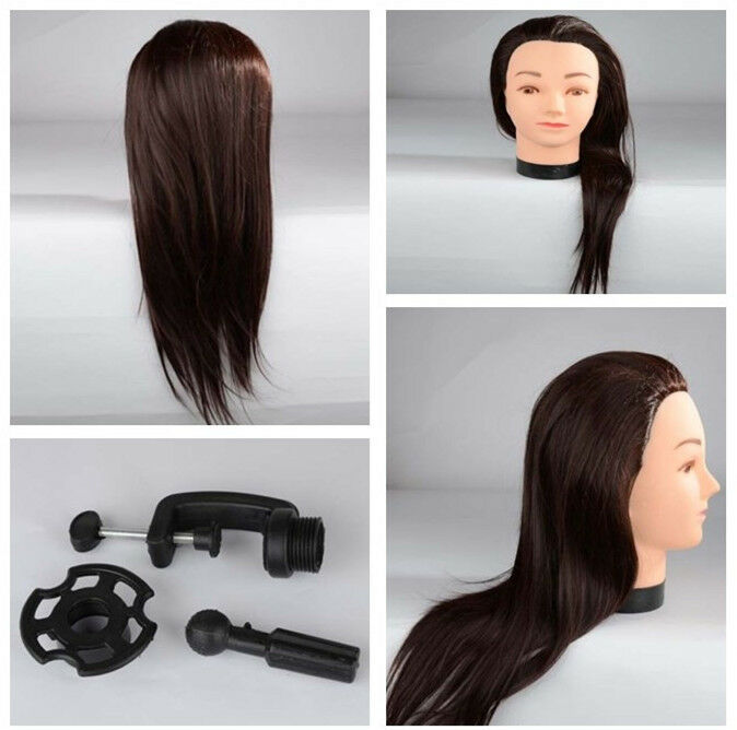 realistic hair cutting and styling 21 quot 40 real hair cutting styling hairdressing mannequin 5609