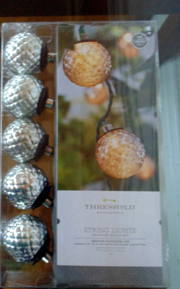 Outdoor String Lights All Weather : Threshold Weather Resistant Indoor/Outdoor String Lights 10 lights NEW IN BOX eBay