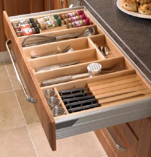 Wooden Cutlery Tray For Blum Tandembox Intivo Or Antaro