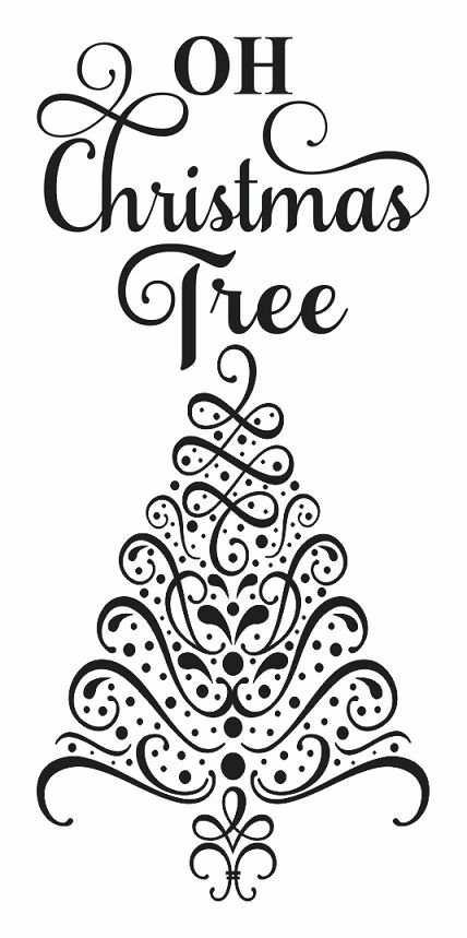 Christmas holiday stencil oh tree for