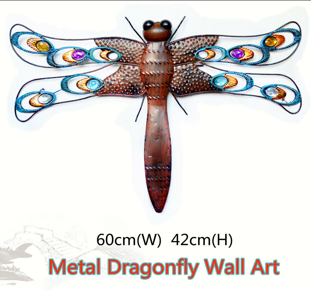 Dragonfly Nursery Wall Decor : Metal dragonfly wall art garden sculpture