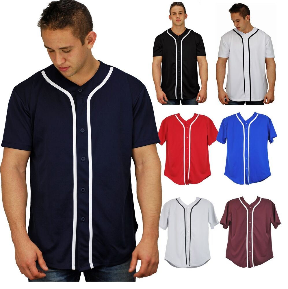 baseball t shirt jersey plain button down champ sports tee solid colors 2017 ebay. Black Bedroom Furniture Sets. Home Design Ideas