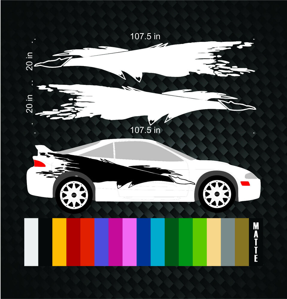 Mitsubishi Eclipse Vinyl Side Graphics Decal Sticker