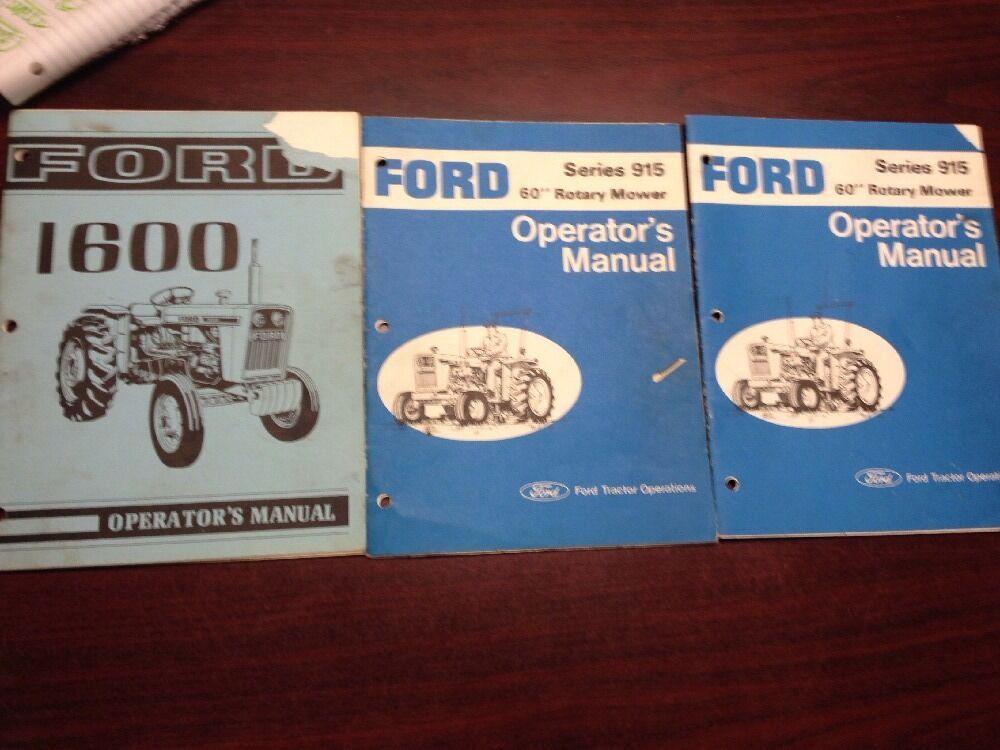 Ford 1600 Tractor Parts List : Ford tractor operator s manual series