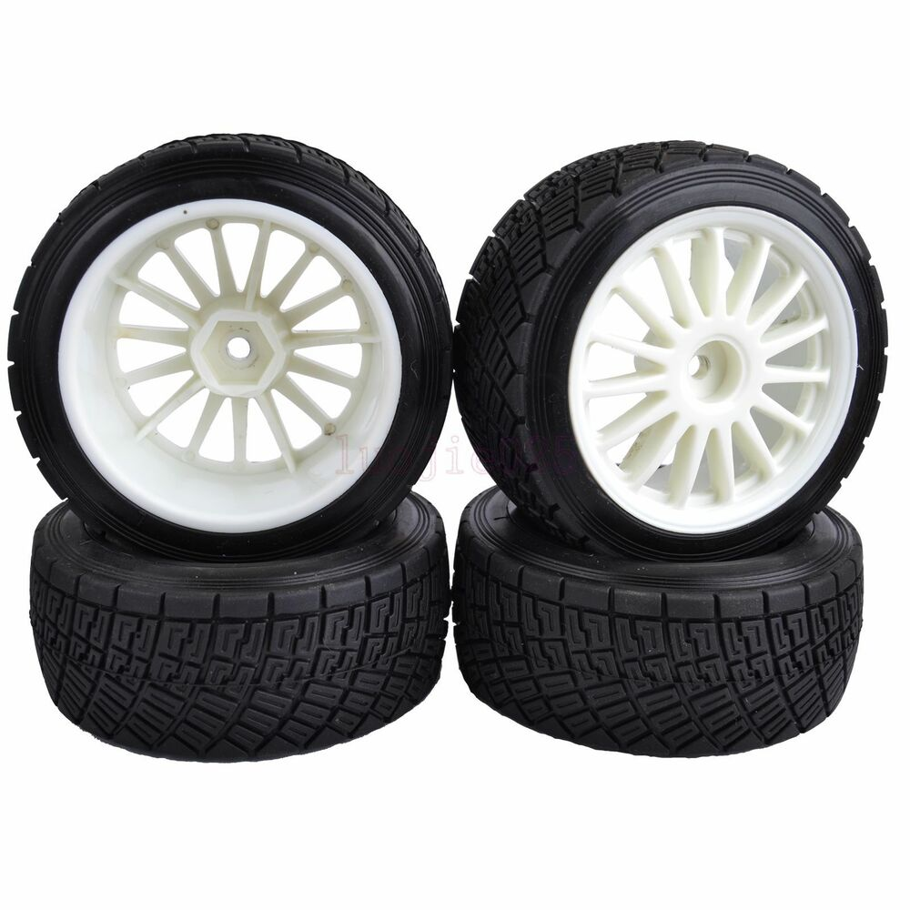 80mm Rc 1 10 On Road Rally Car Rubber Tyres Tires Wheel