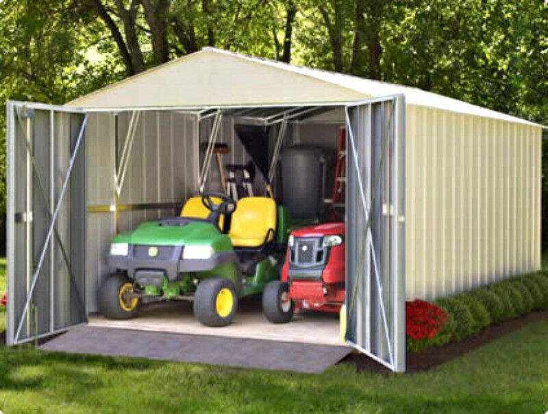 10x20 Metal Shed : Arrow mountaineer metal storage shed kit mhd