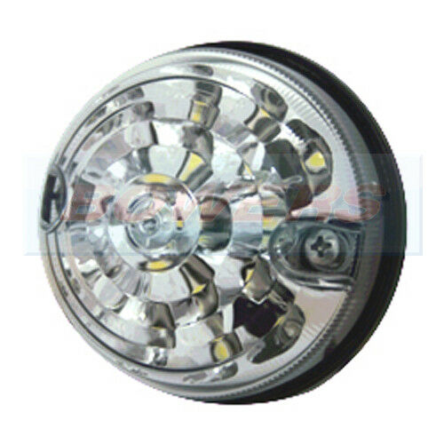 Pair Of Clear Front Indicator Lights For Land Rover: LAND ROVER DEFENDER RDX 73MM / 74MM WHITE LED FRONT CLEAR