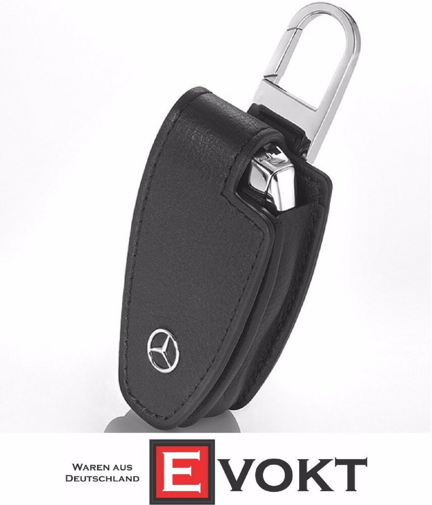 Mercedes benz key case and chain black leather b66958140 for Mercedes benz chain