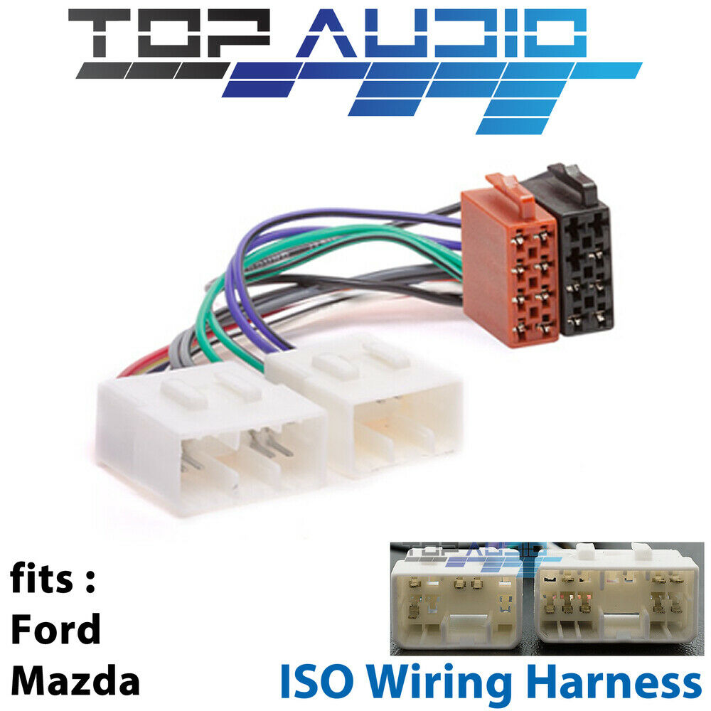 ford mazda iso wiring harness stereo radio lead loom connector adaptor app051 ebay