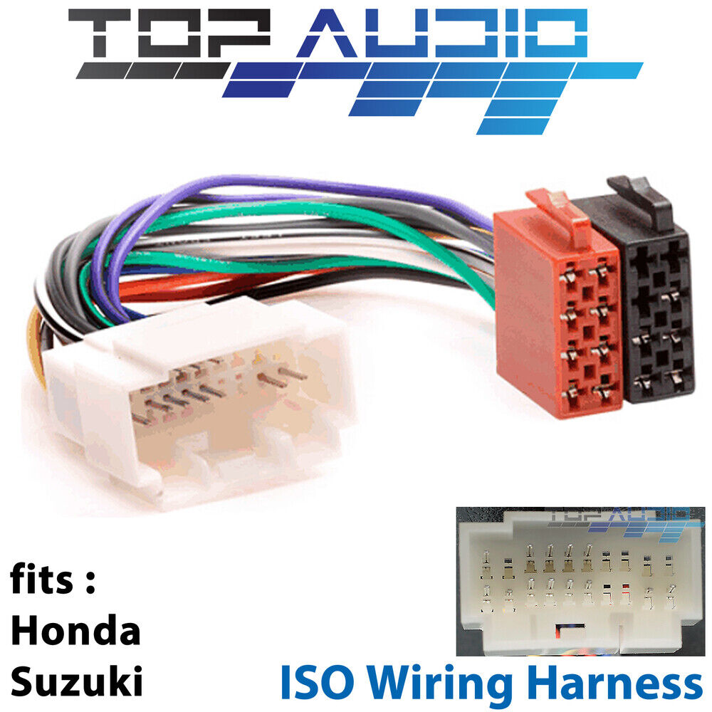 Honda Suzuki Iso Wiring Harness Stereo Radio Lead Loom Connector Adaptor App071