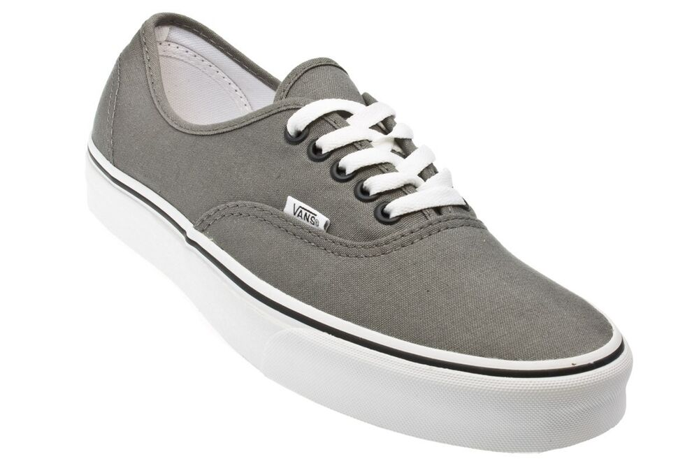 vans authentic pewter black mens womens shoes sneakers
