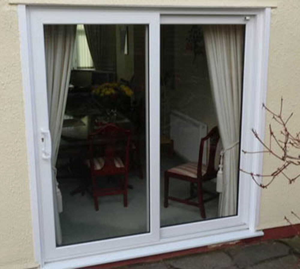 Upvc sliding patio doors white oak rosewood grey for Patio doors uk