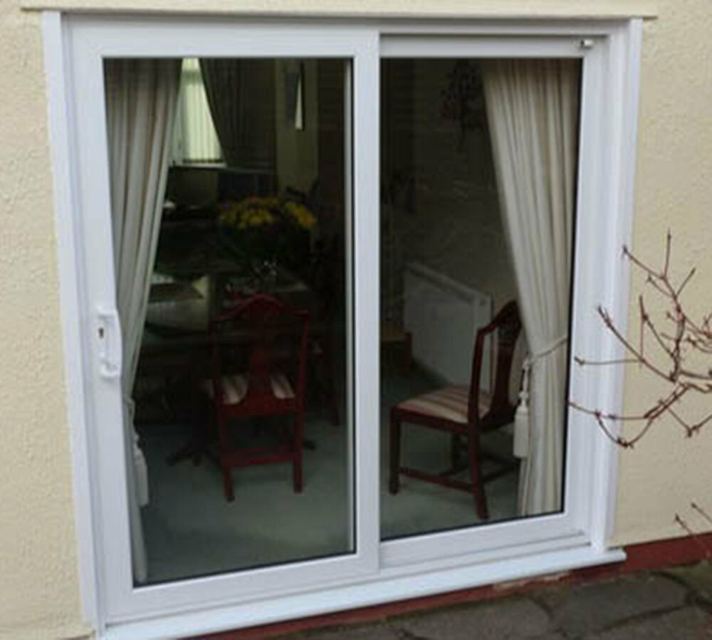 Upvc sliding patio doors white oak rosewood grey for White sliding patio doors