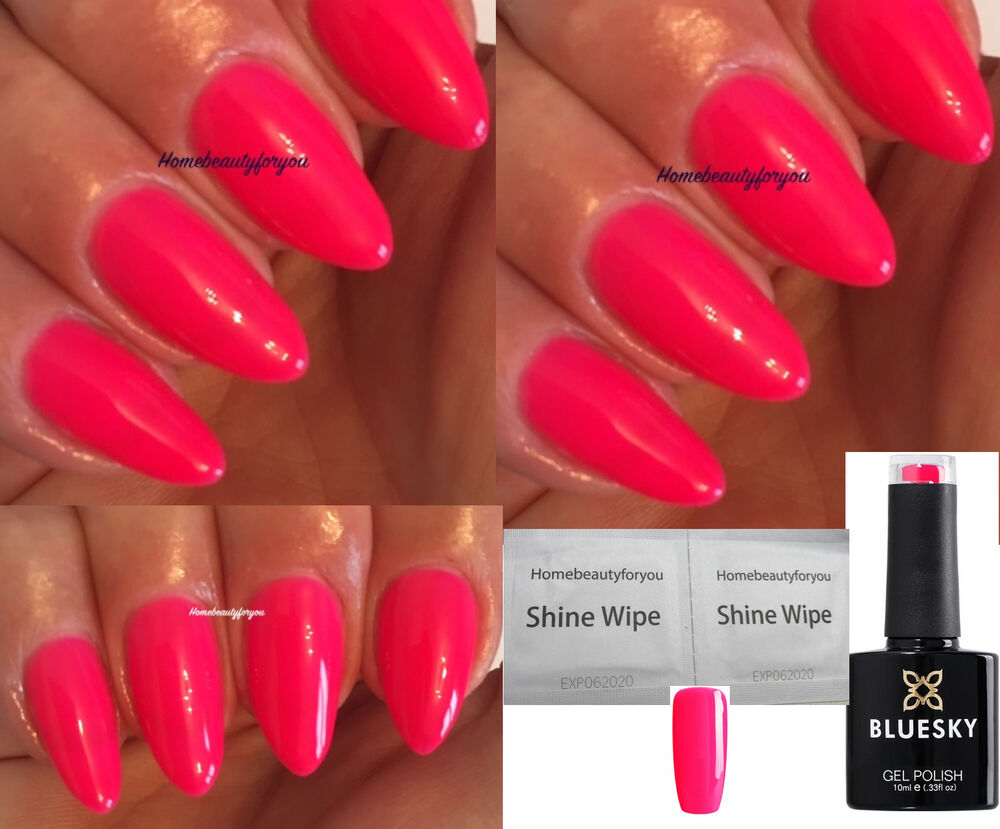 BLUESKY NEON 6 N6 CHERISE CUPID VERY BRIGHT PINK NAIL GEL POLISH UV ...