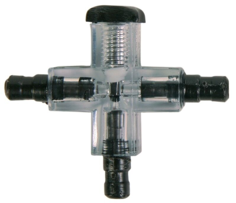 Cross connector with valve hose joiner fittings air line for Fish tank hose