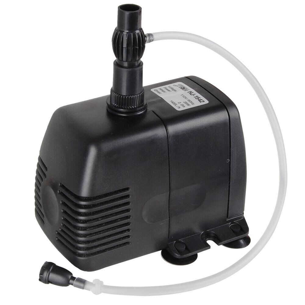 370 gph submersible pump aquarium fish tank powerhead for Fish water pump