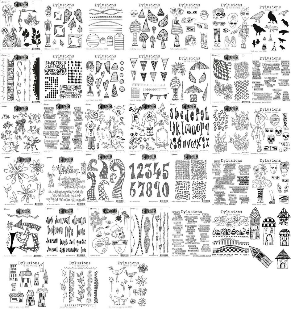 Dyan Reaveley Dylusions Stamp Sets All Designs Ebay