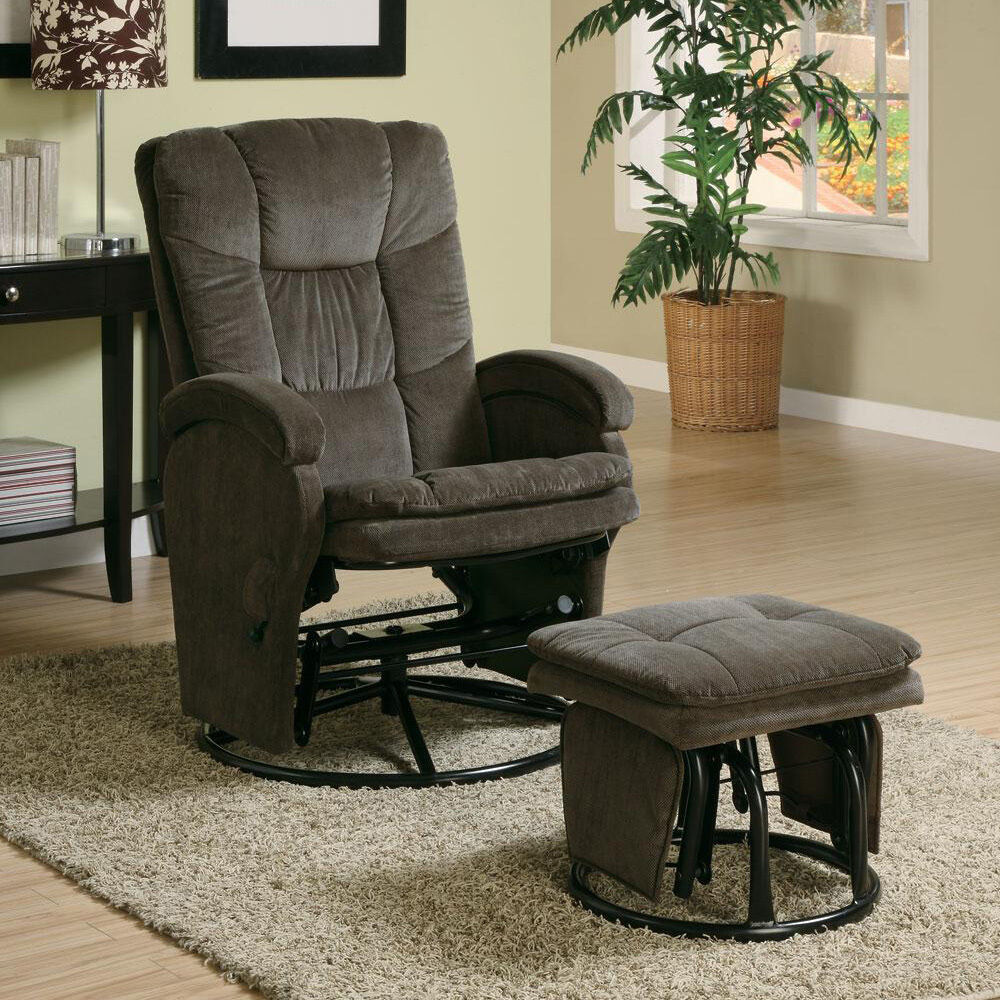 Casual Baby Nursing Metal Glider Rocker Comfort Chocolate