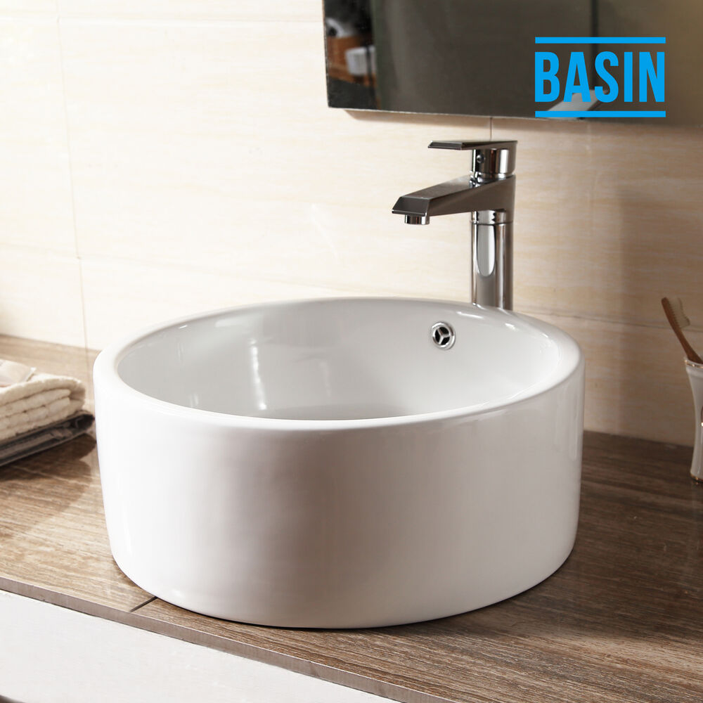 bowl sinks for bathrooms bathroom cloakroom white ceramic countertop wash 17495