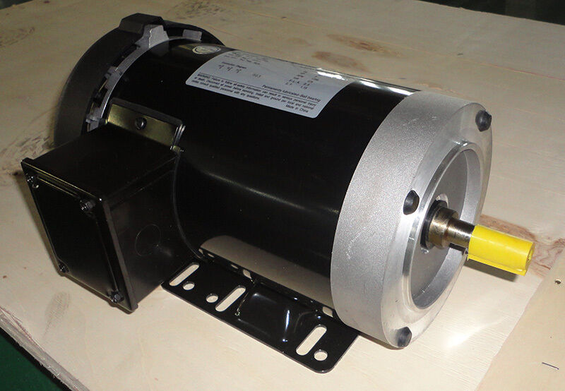 cem rolled steel ac motor 1hp 3600rpm 56c removable feet