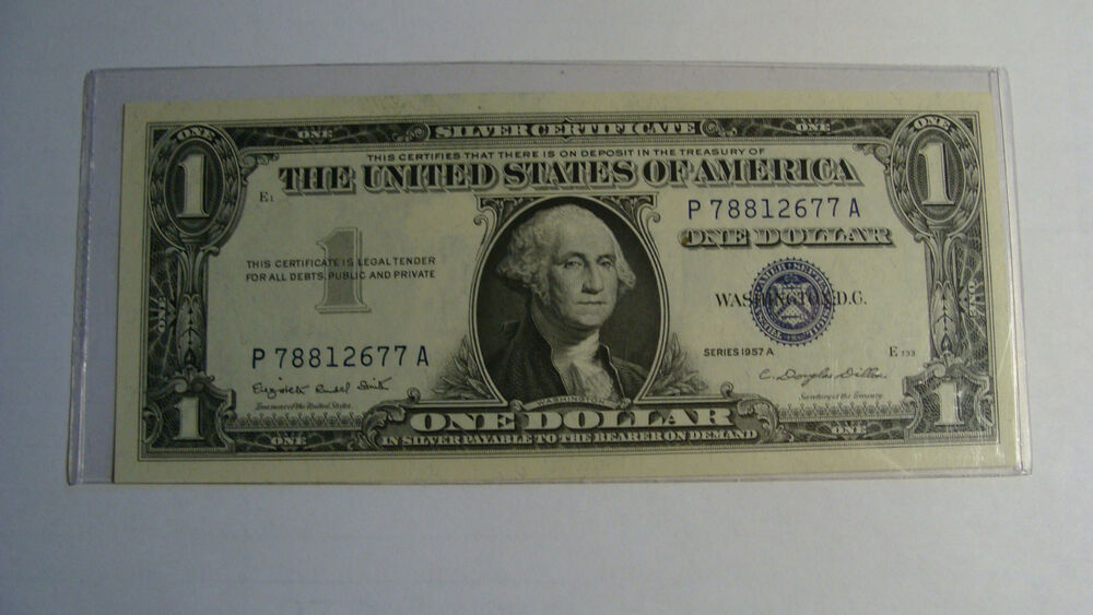 United States One Dollar 1957 Silver Certificate
