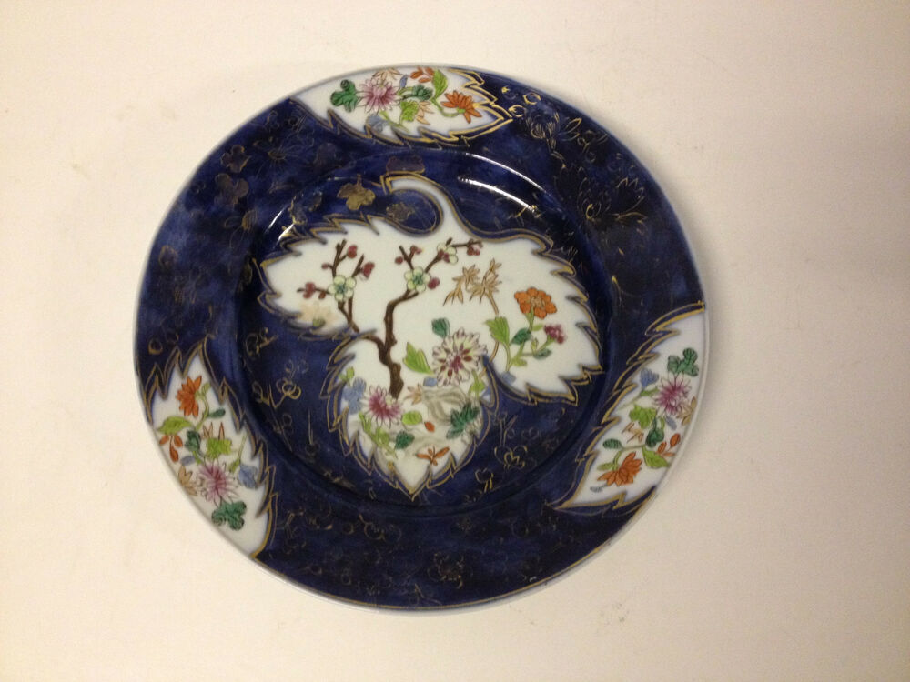 Antique chinese export or samson porcelain plate w floral for Decoration plates