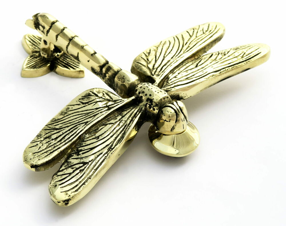 Solid brass dragonfly door knocker antique vintage style dragon fly knockers ebay - Dragonfly door knocker ...