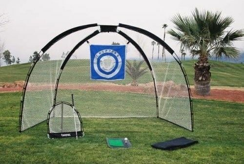 Golf Swing Training Aid Set Driving Mat Chipping Net Bag