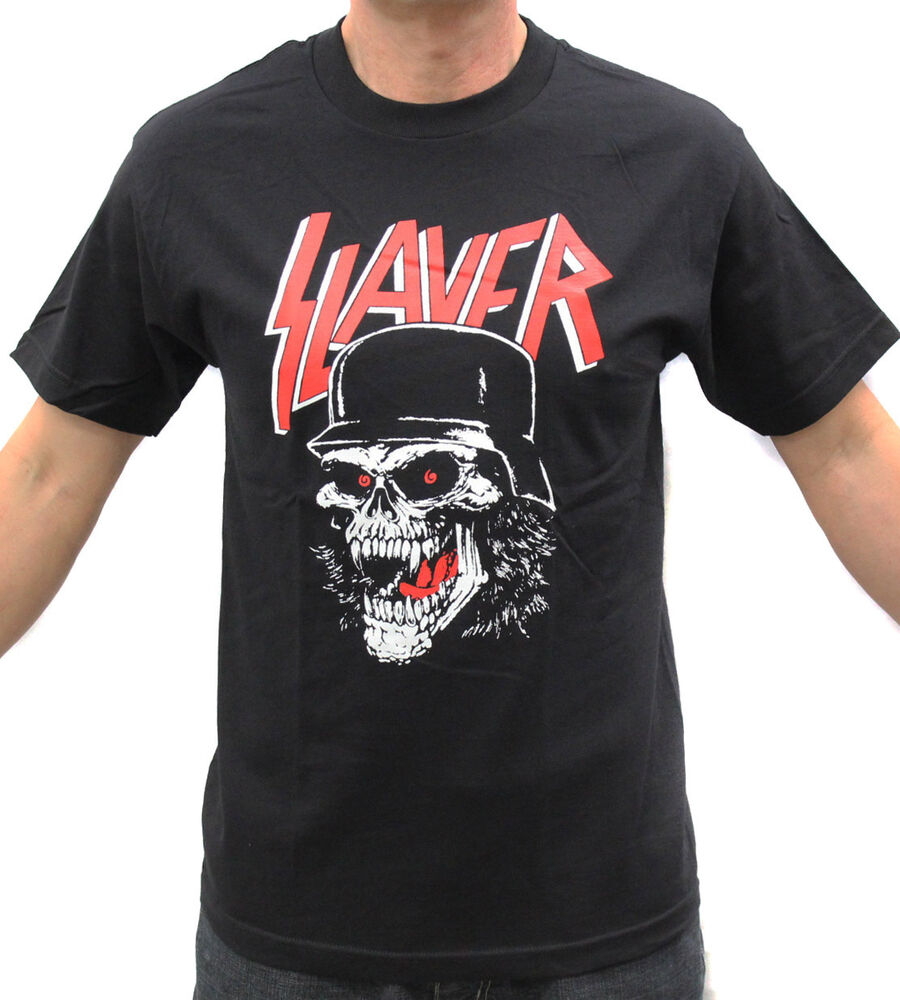 slayer skull helmet thrash metal band graphic t shirt ebay