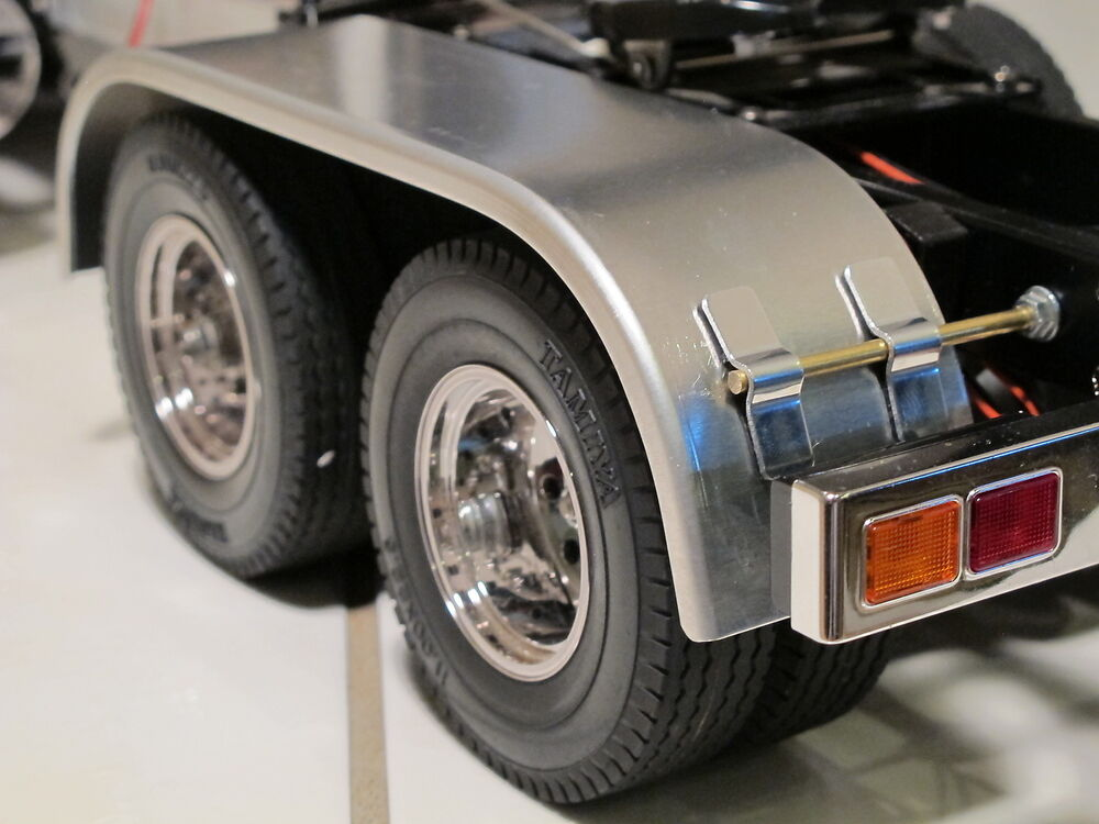 Aluminum Truck Fenders : Custom aluminum dully fender tamiya semi king knight