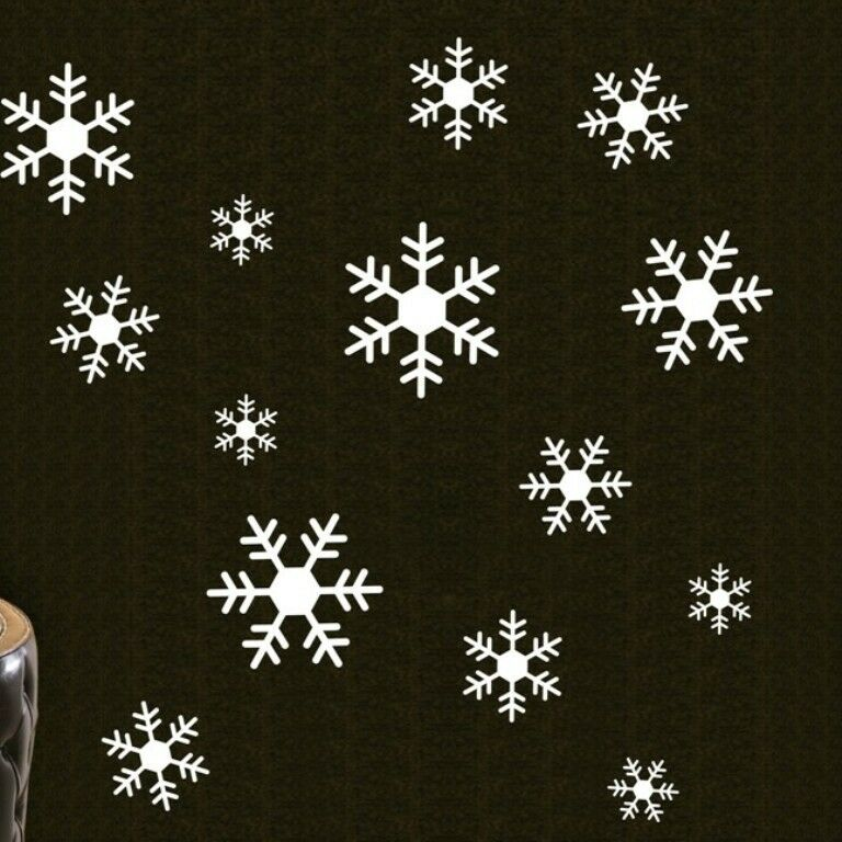 Large Snowflakes Christmas Wall Decals Vinyl Window