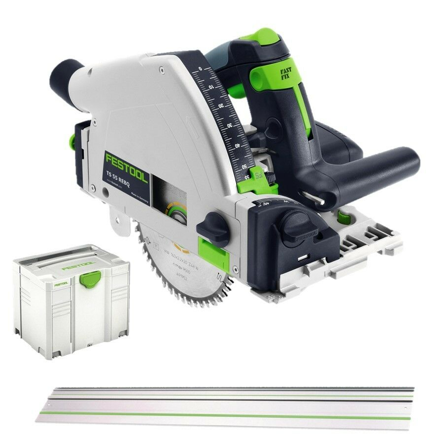 festool tauchs ge ts 55 rebq plus fs nr 561580 im systainer mit schiene neu ebay. Black Bedroom Furniture Sets. Home Design Ideas