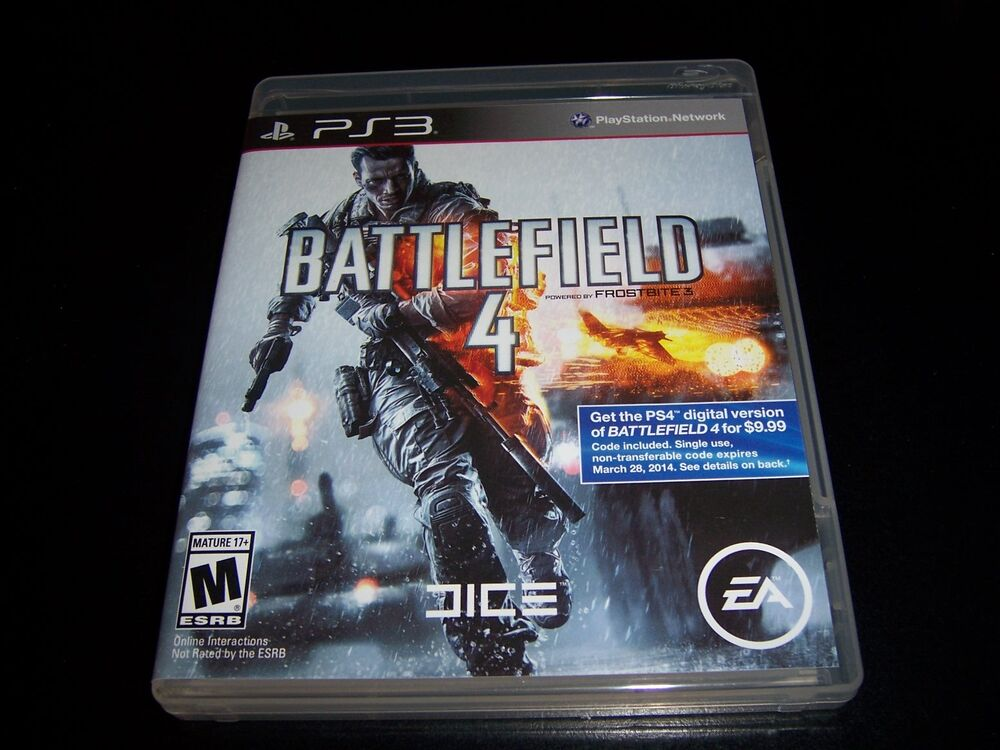 Replacement Case (NO GAME) BATTLEFIELD 4 PLAYSTATION 3 PS3 ...