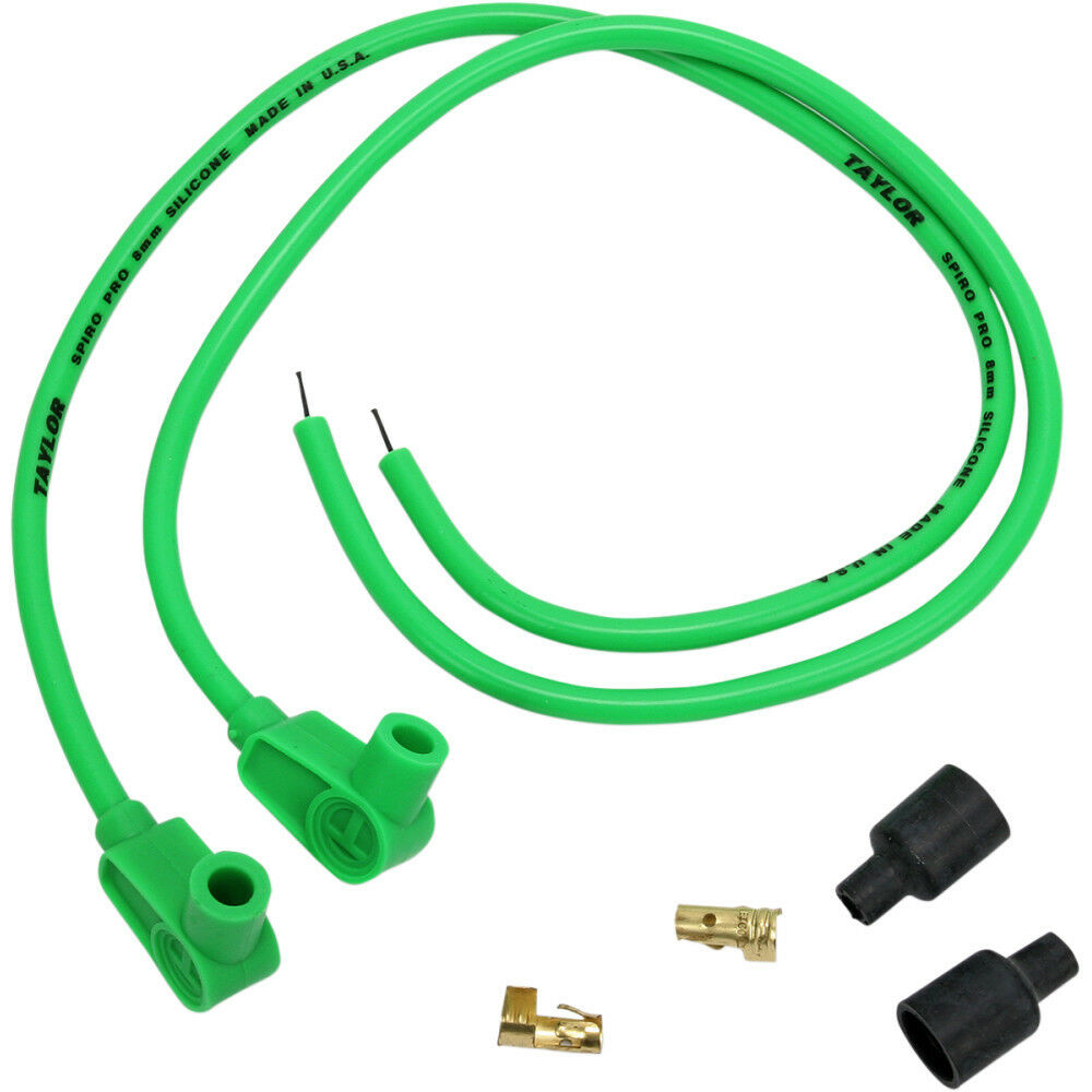 Sumax hot green mm spark plug wires quot l for harley