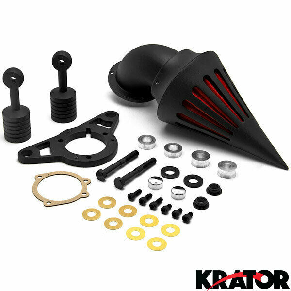 Harley Davidson Air Filter Kits : Harley davidson black spike intake air cleaner filter kit