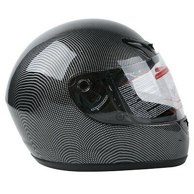 New Adult Carbon Fiber Flip Up Full Face Motorcycle Helmet Street Bike S~XXL