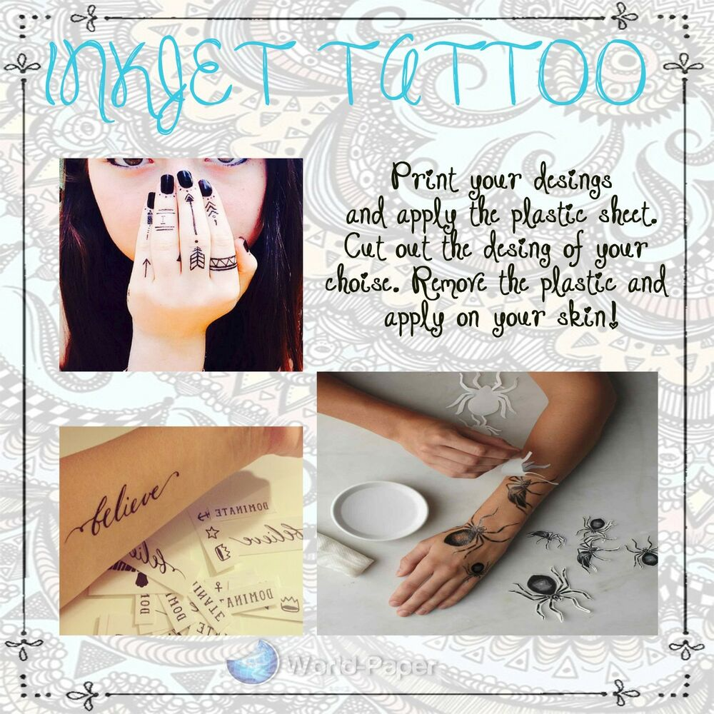 temporary tattoos paper Australia's best temporary tattoo store design and print custom temporary tattoos with pepper ink buy temporary ink paper & our range of in-stock designs.