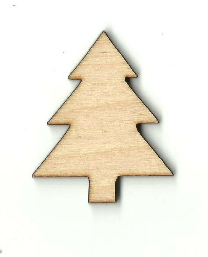 Christmas pine tree unfinished wood shapes craft supplies for Wooden christmas cutouts