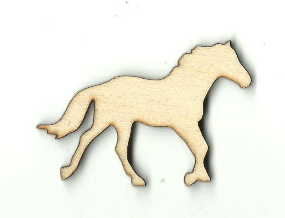 horse unfinished wood shapes craft supplies laser cut outs