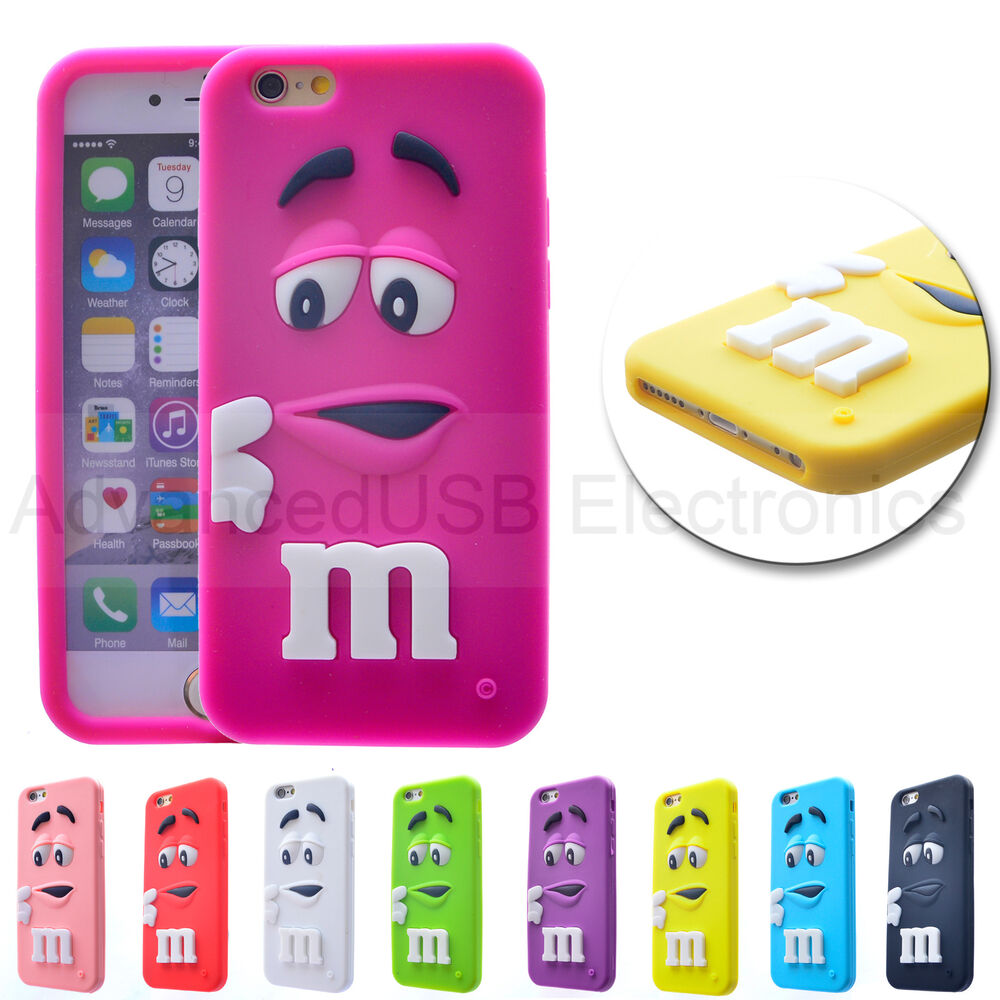 New coque m m 39 s pour iphone 6 4s 5s silicone souple etui for Housse iphone 5s