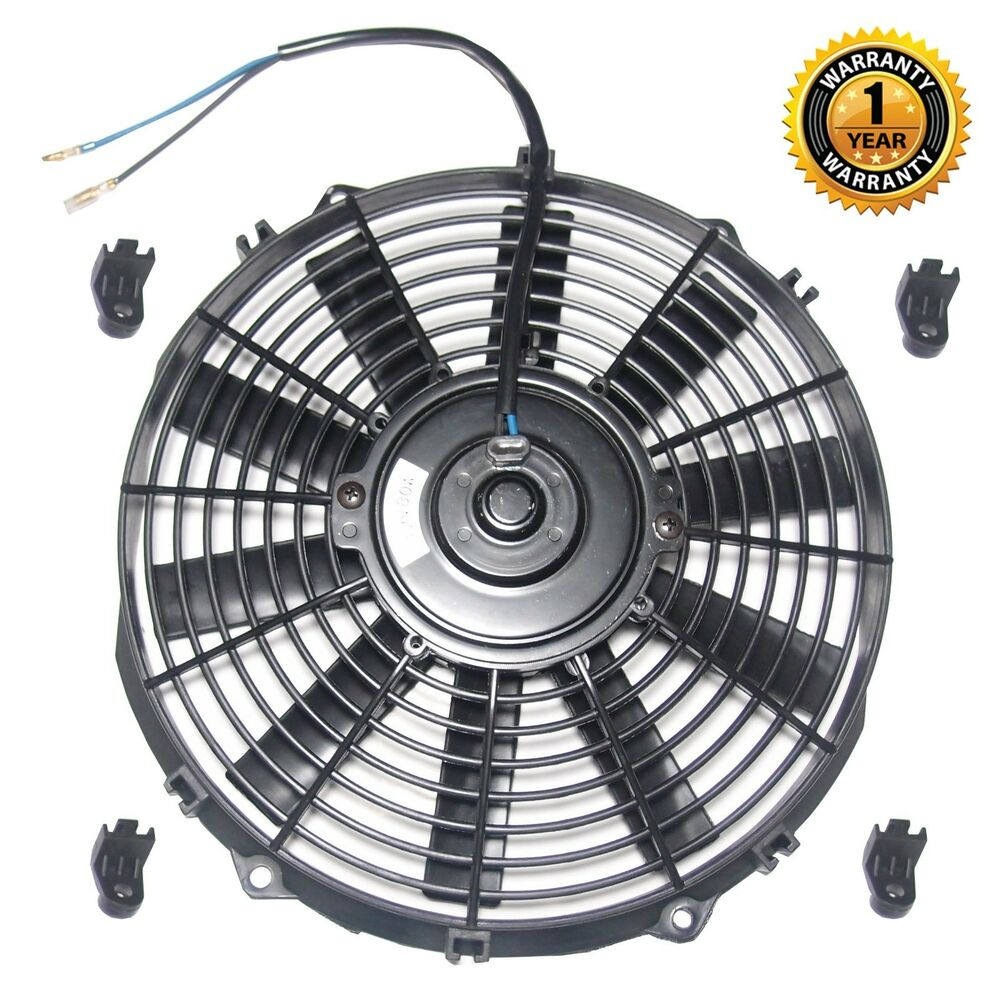 Radiator Cooling Fans : Quot black universal v slim push pull electric radiator