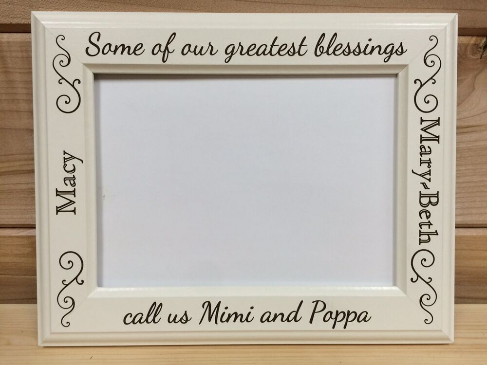 Grandparent Picture Frame Laser Engraved Personalized