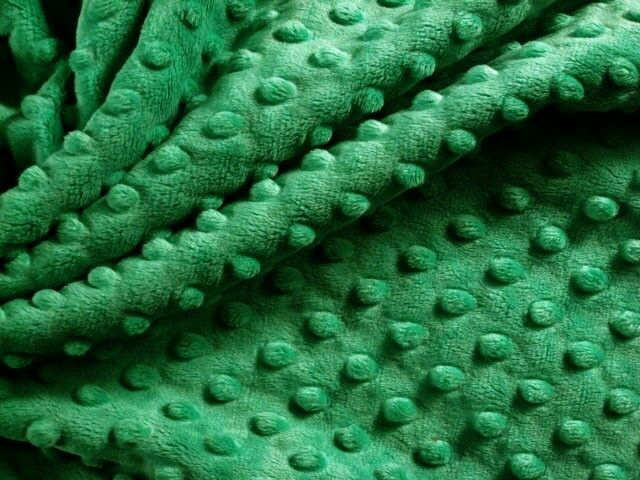 Emerald Green Christmas Kelly Minky Cuddle Dimple Dot Sew