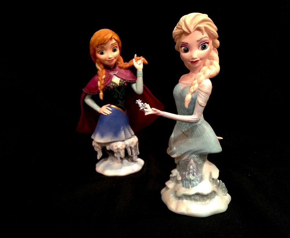 Frozen disney princess anna and elsa 2 piece statue set nib grand jester ebay - Princesse anna et elsa ...