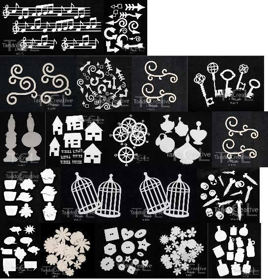Chipboard Shapes Ideas ~ Tando creative blank chipboard shapes multiple designs