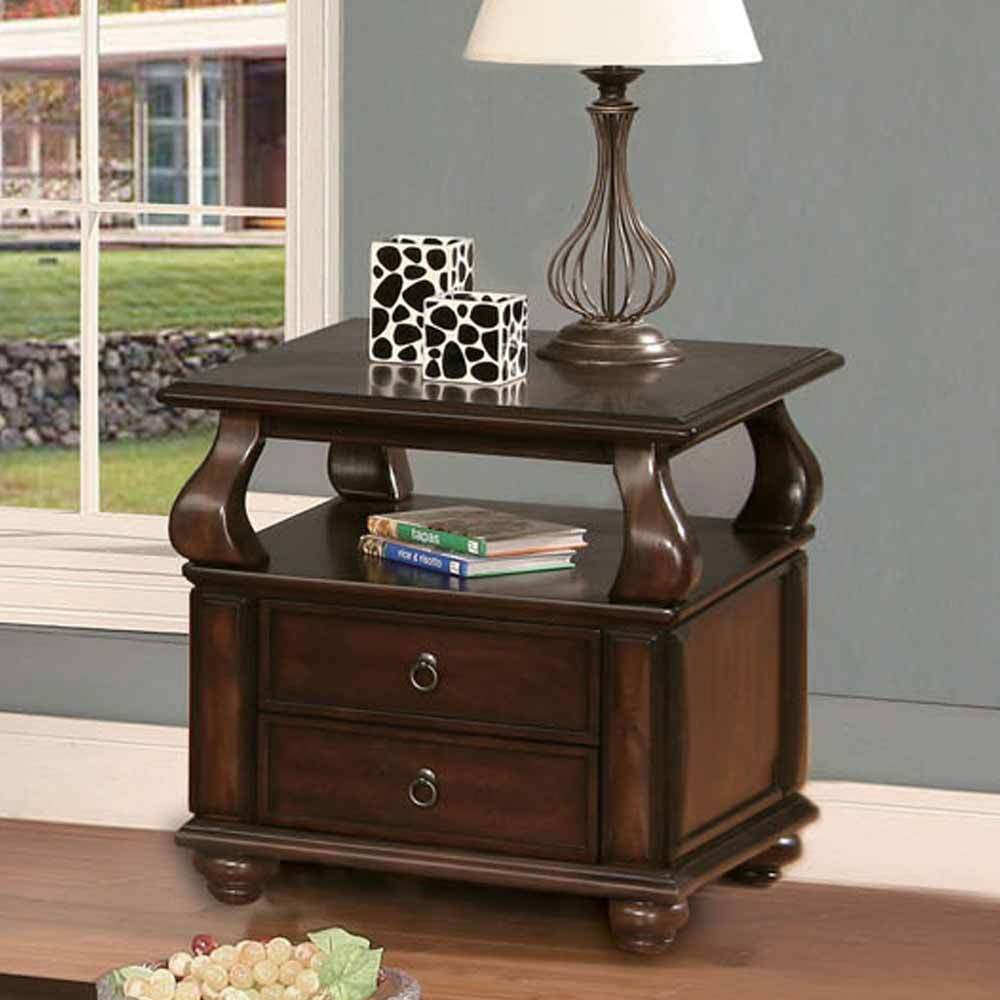 side drawers living room amado occasional living room end side snack table stand 2 13303