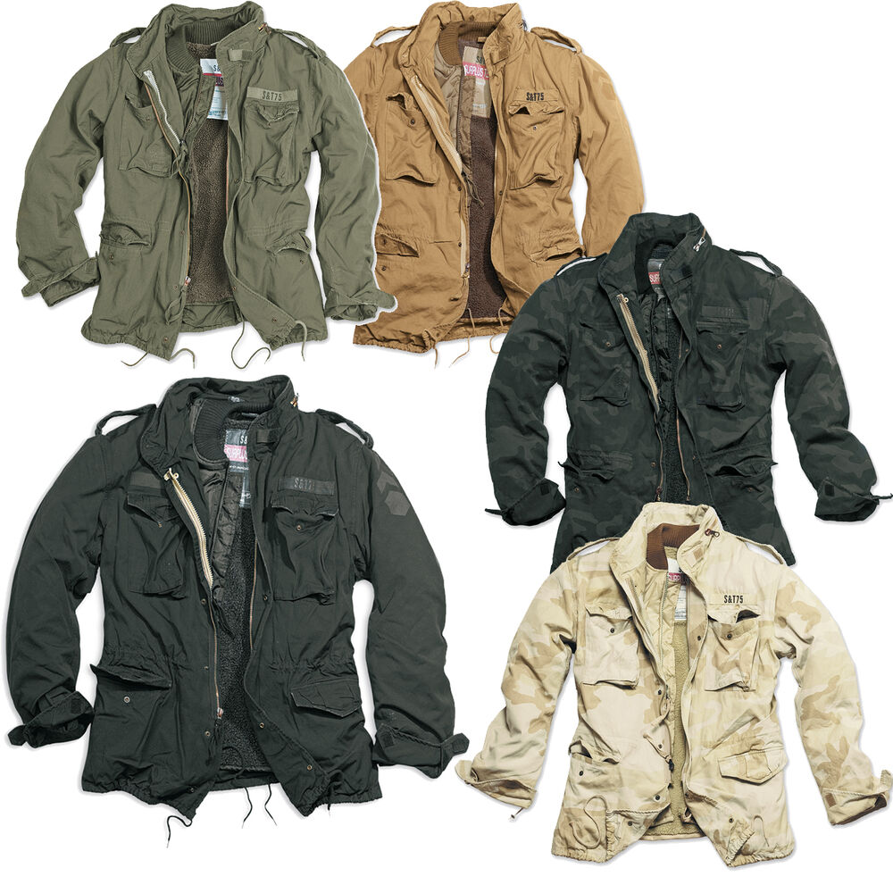 surplus regiment m65 herren jacke parka feldjacke. Black Bedroom Furniture Sets. Home Design Ideas