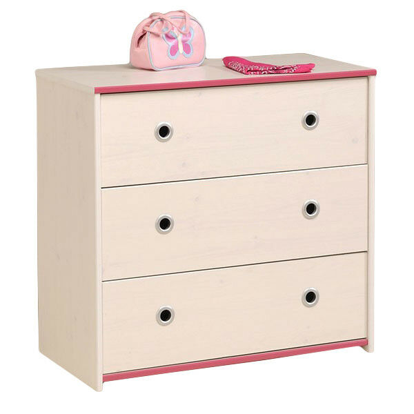 kommode m dchen wei pink schubladen kinderzimmer aufbewahrung mehrzweckschrank ebay. Black Bedroom Furniture Sets. Home Design Ideas