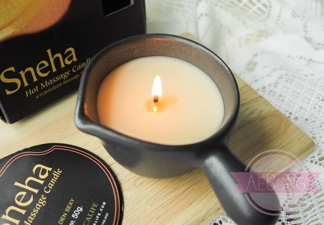 Sneha New Home Spa Hot Wax Body Oil Massage Candles Naturlig, Relax, Sensual 50G Ebay-4024